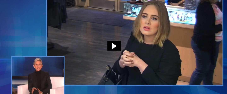 Komisch duo Adele en Ellen DeGeneres halen weer een grap uit