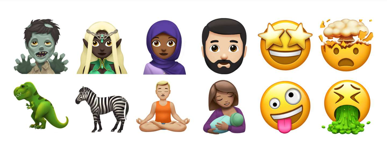 Apple geeft kleine preview van de nieuwe emoji van eind dit jaar