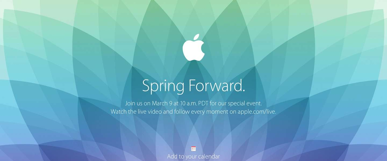 Apple kondigt event aan op 9 maart