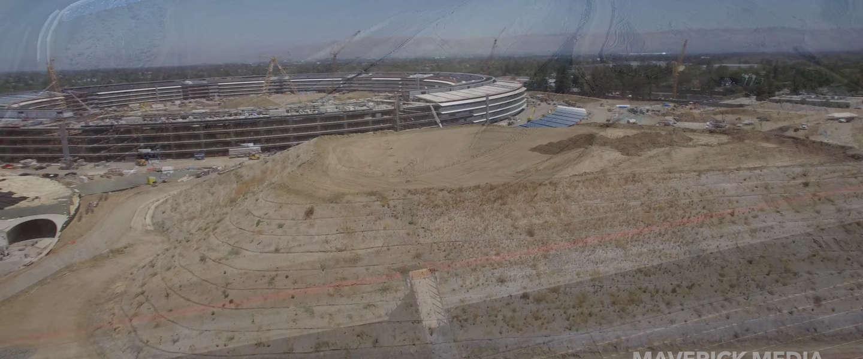 De bouw van Apple Park in zes minuten en 4K (video)
