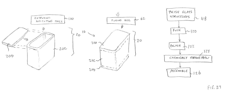 Apple patent voor geheel glazen iOS-apparaten
