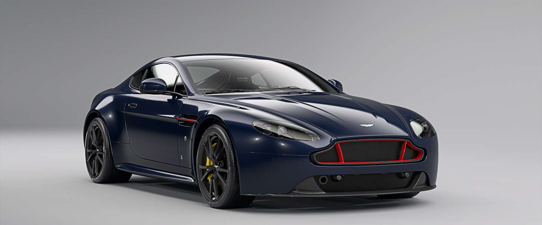 Fotoshoot van de Aston Martin V8 en V12 Vantage S Red Bull Racing Editions