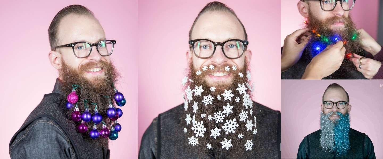 9 manieren om je baard te versieren met Kerst