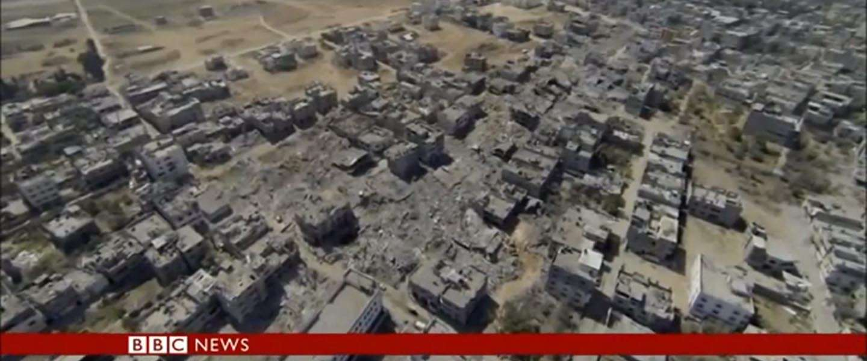 BBC Drone toont beelden verwoesting Gaza