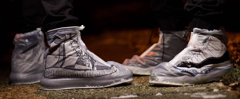 Dry Steppers: bescherm je sneakers met een 'jasje' tegen de regen
