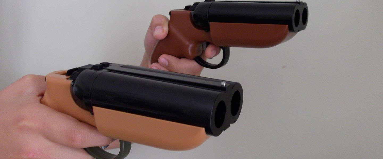 Must have: Een dubbelloops Paintball pistool