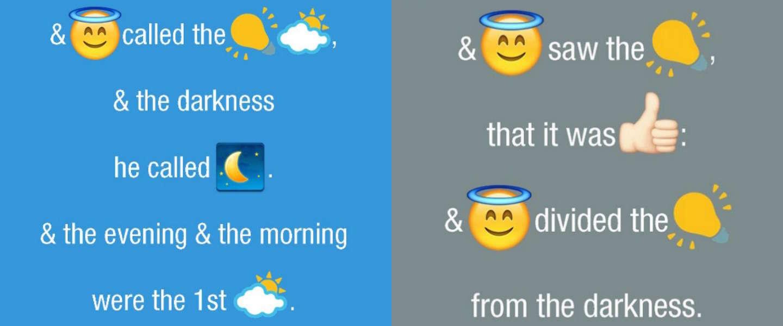 De Bijbel vertaald in emoji's