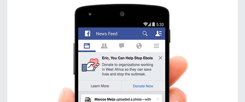 Facebook wil gezamenlijk ebola gaan bestrijden
