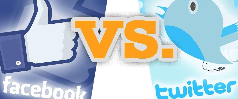 Twitter vs Facebook: Een Infographic
