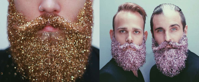 Bizarre trend voor de feestdagen: baard met glitter!
