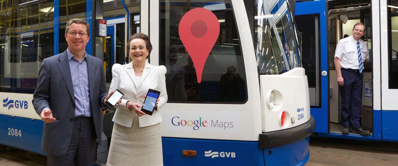 Google Maps nu met actuele OV informatie