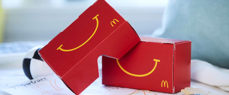 McDonald's maakt VR-bril 'Happy Goggles' van een Happy Meal