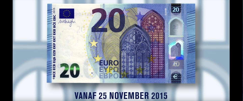 Nieuw 20-eurobiljet vanaf vandaag in omloop
