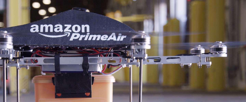 Amazon wil bezorgen met drones gaan testen