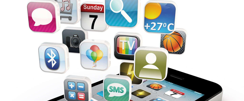 Maandelijks spenderen smartphone gebruikers gemiddeld 30 uur met 27 verschillende apps