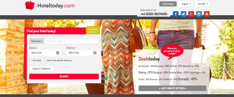 Hoteltoday.com biedt je de beste deals wereldwijd in 175.000 Hotels