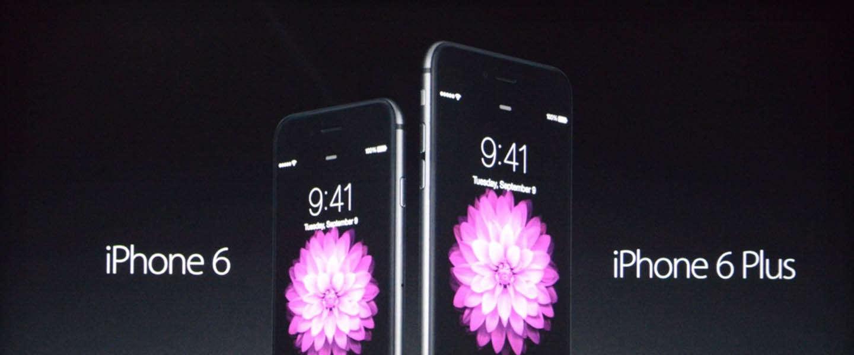 Apple lanceert twee nieuwe iPhone's: de 6 en de 6 Plus