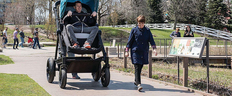 Geweldige marketing: test een kinderwagen door zelf een ritje te maken