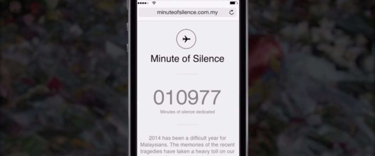 """Malaysia Airlines """"A Minute of Silence"""" Mobile Campaign"""