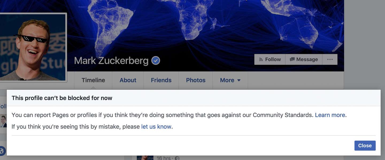 Waarom kunnen we Mark Zuckerberg niet blokkeren op Facebook?