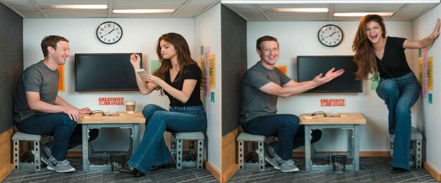 Mark Zuckerberg meets Selena Gomez