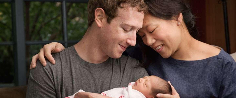 Mark Zuckerberg is vader geworden en geeft 99 procent van zijn Facebook-aandelen weg aan een goed doel