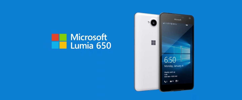 Lumia 650 Microsoft's nieuwste Windows 10 Smartphone
