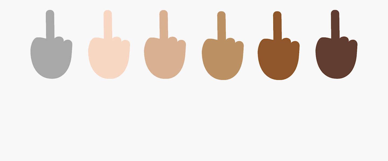 Windows 10 laat je je middelvinger opsteken