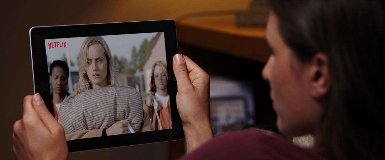 Netflix beperkt data via mobiele netwerken
