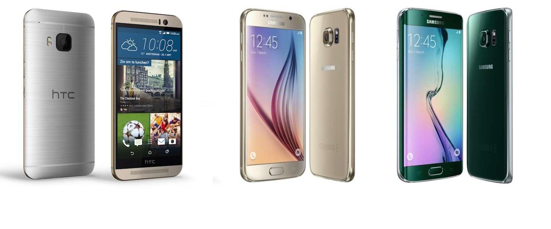 Galaxy S6 en Galaxy S6 edge laten HTC One M9 de hielen zien in benchmark test