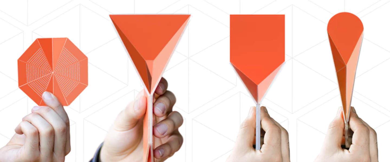De Ori Kit: slim, mooi en multifunctioneel origami-bestek