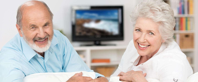 Televisie kijken is voor ouderen