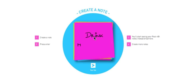 Post-it notes in plaats van retargeting-ads