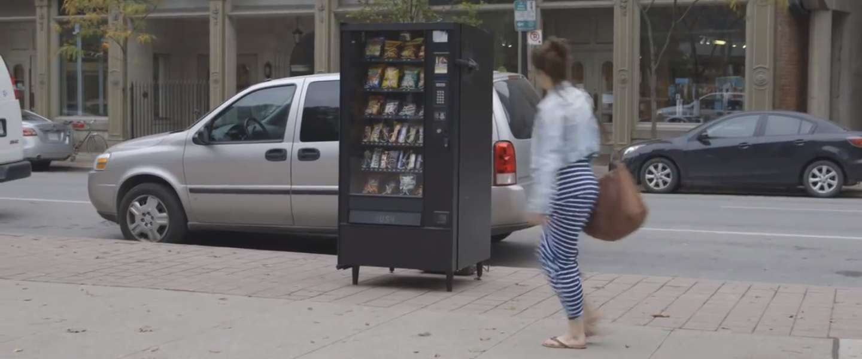 Deze vending machine doet wel iets héél spannends