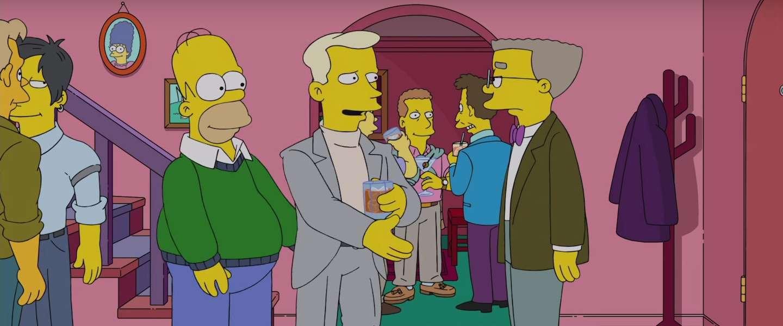 Simpsons Waylon Smithers Jr. de assistent van Mr. Burns komt uit de kast