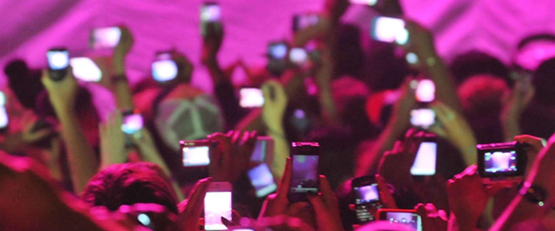 Straks geen foto's of video's meer maken tijdens concerten?