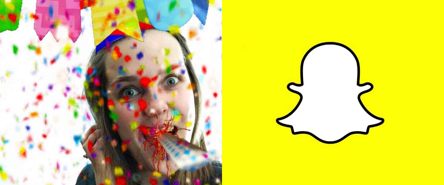 Snapchat komt met speciale verjaardagsfilter
