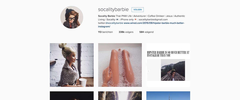 Socality Barbie: de nieuwste Instagram-hit