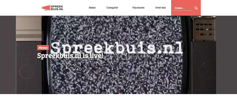 Omroepplatform Spreekbuis.nl gaat blad vervangen