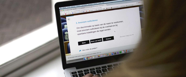 Stemwijzer is online, maar het gaat niet helemaal goed
