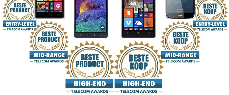 Eerste Telecom Awards een prooi voor Nokia, Motorola, Acer en Samsung