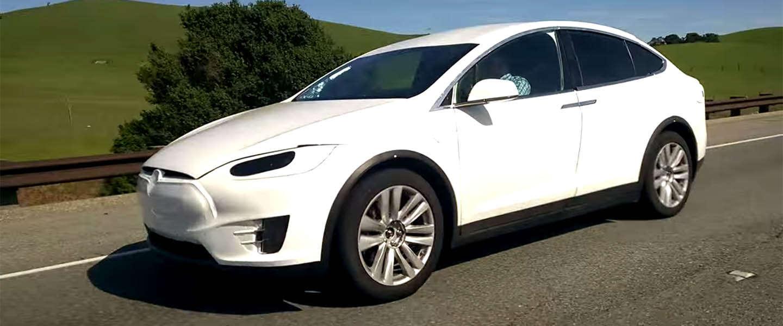 Tesla Model X gespot in de buurt van Palo Alto