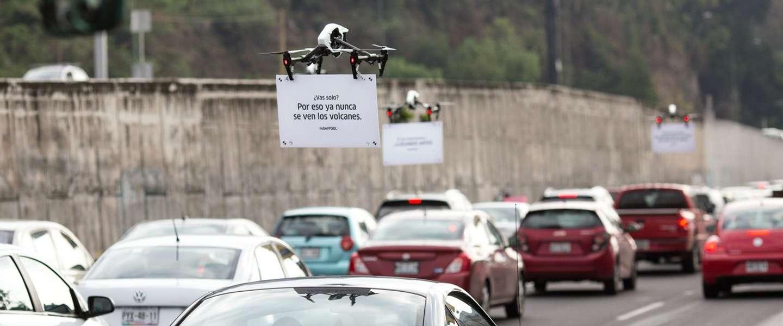 Uber gebruikt drones om (anti)reclame te maken