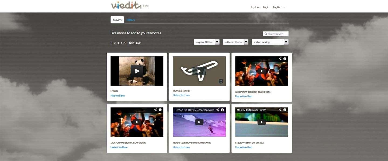 Eigen videobeelden professioneel laten monteren kan nu met Viedit