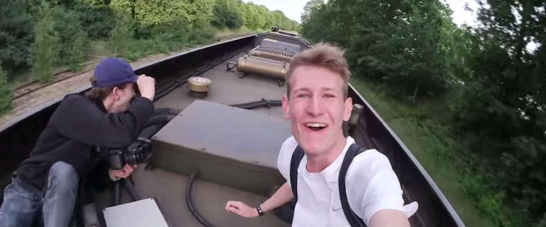 Bizar: vlogger springt op trein en Veolia doet aangifte