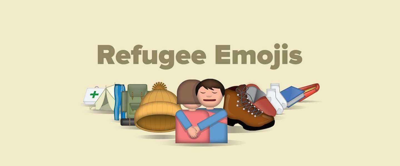 Steun vluchtelingen met Refugee Emojis