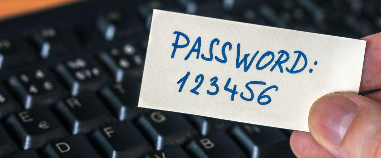 We blijven struikelen over veel te eenvoudige wachtwoorden