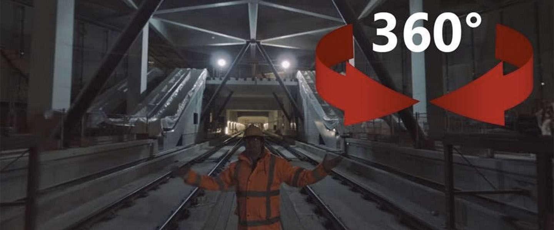 De Noord/Zuidlijn in 360 graden video