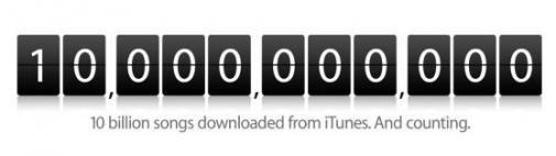 10 miljard iTunes downloads