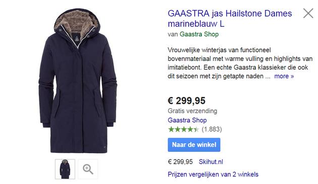2. Gaastra Shop jas Seller Ratings